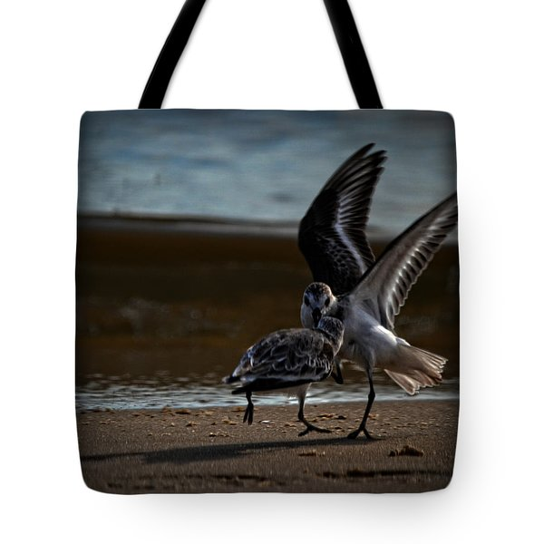 Fighting Sandpipers Tote Bag