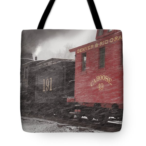 Fighting Through The Winter Storm Tote Bag