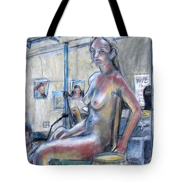 Figure Drawing- Primary Colors  Tote Bag