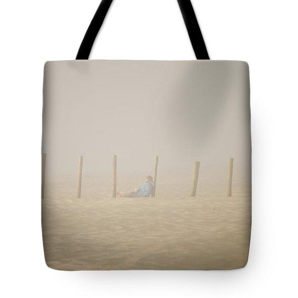 Figure In The Fog Tote Bag