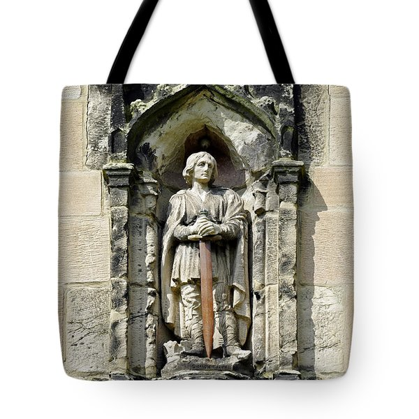 Figure Of St Wystan Above Porch Door Tote Bag by Rod Johnson