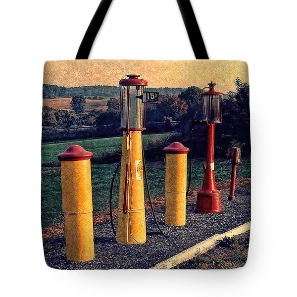 Fill 'er Up Vintage Fuel Gas Pumps Tote Bag