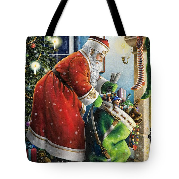 Filling The Stockings Tote Bag