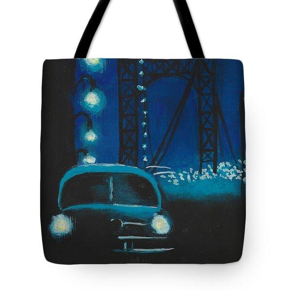 Film Noir In Blue #1 Tote Bag