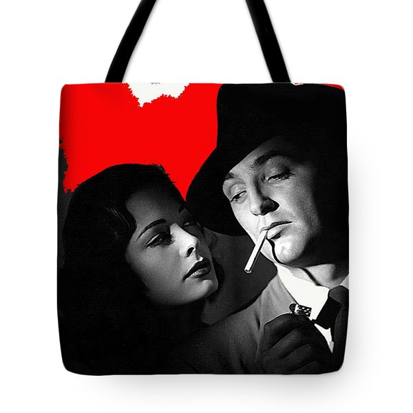 Film Noir Jane Greer Robert Mitchum Out Of The Past 1947 Rko Color Added 2012 Tote Bag
