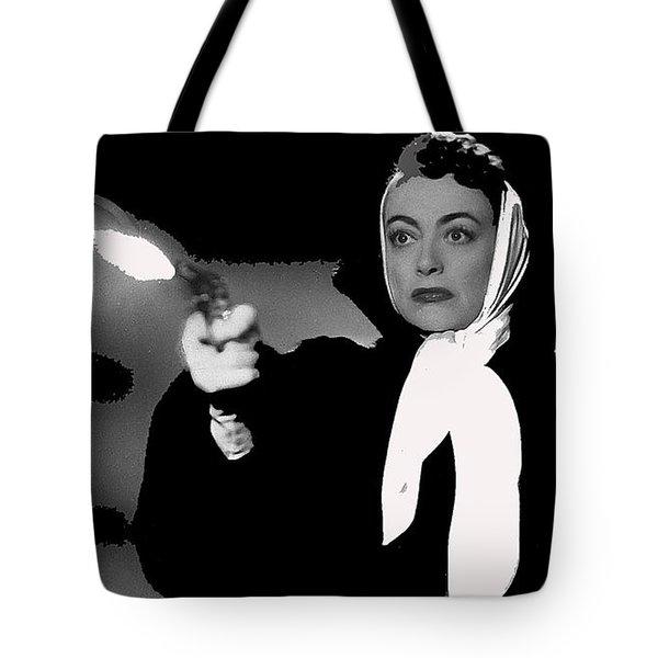 Film Noir Joan Crawford Jack Palance Sudden Fear 1952 Rko Publicity Photo Color Added 2012 Tote Bag
