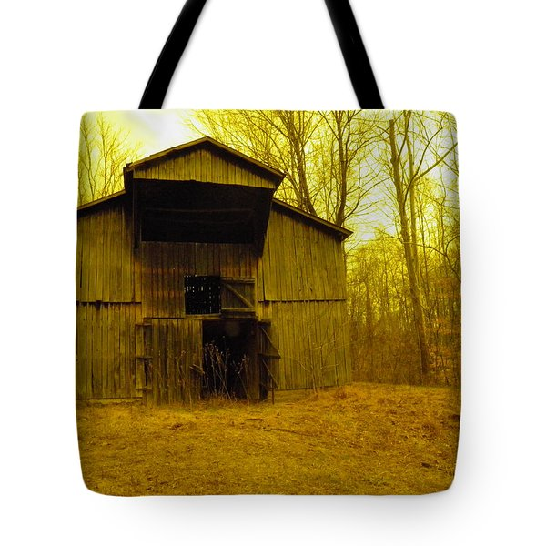 Tote Bag featuring the photograph Filtered Barn by Nick Kirby