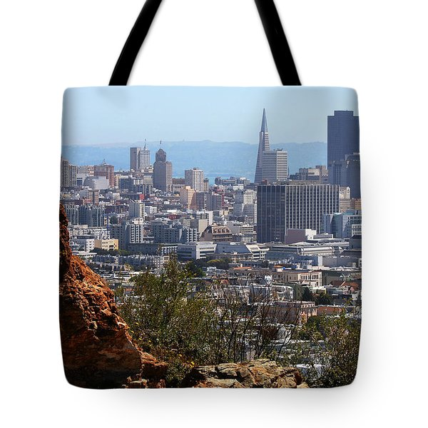 Financial District From Corona Heights Tote Bag by Robert Woodward