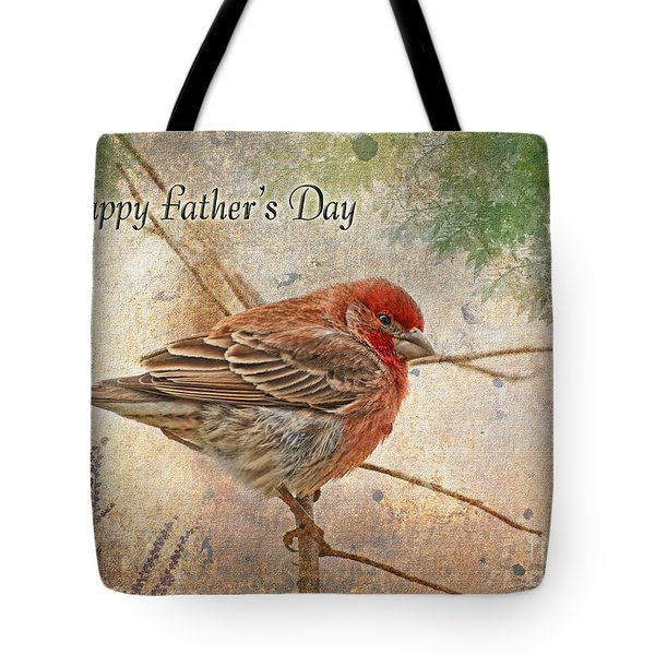 Finch Greeting Card Father's Day Tote Bag