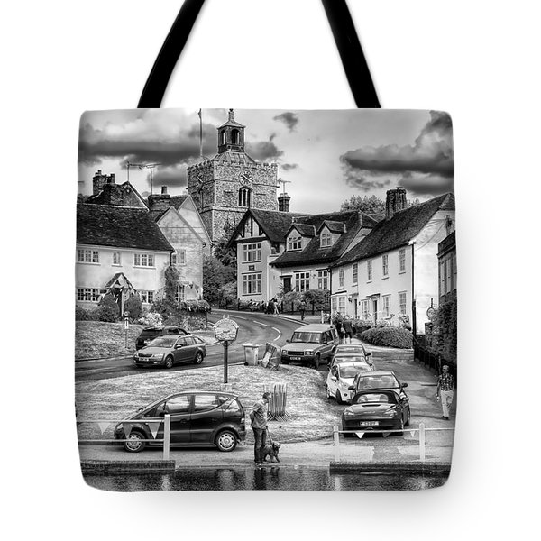 Tote Bag featuring the photograph Finchingfield Essex U K by Jack Torcello