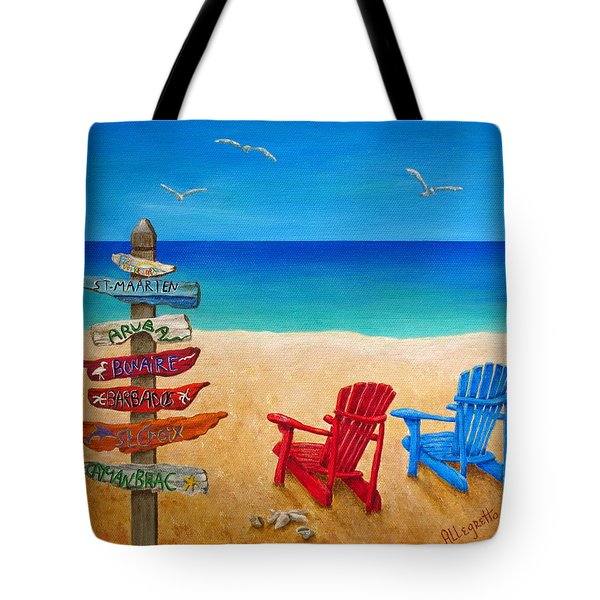 Finding Paradise Tote Bag by Pamela Allegretto