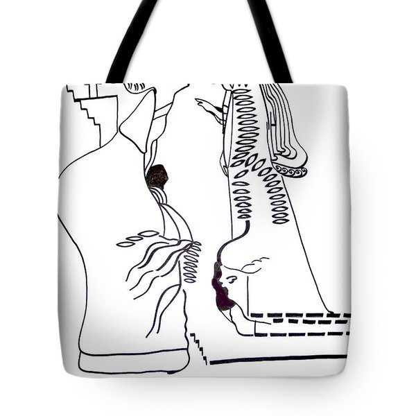 Finding Of The Lord Jesus In The Temple Tote Bag by Gloria Ssali