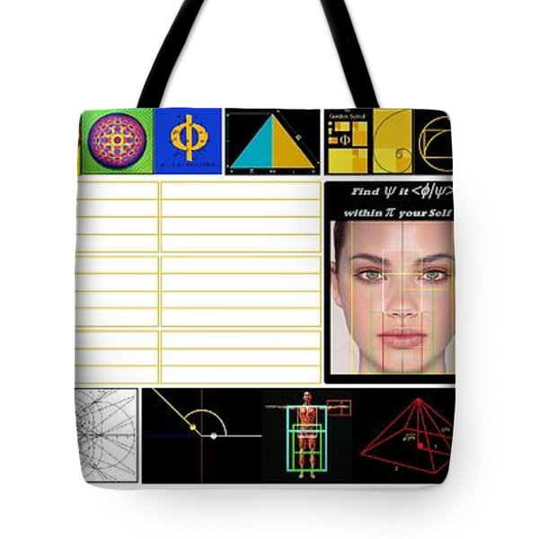 Finding Phi Tote Bag by Peter Hedding