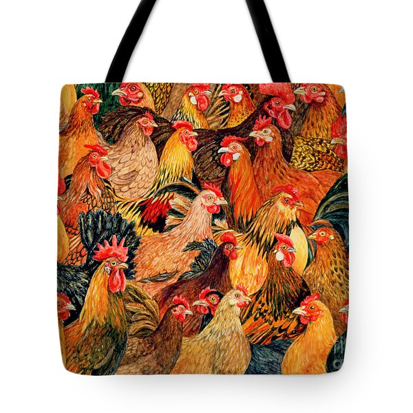 Fine Fowl Tote Bag by Ditz