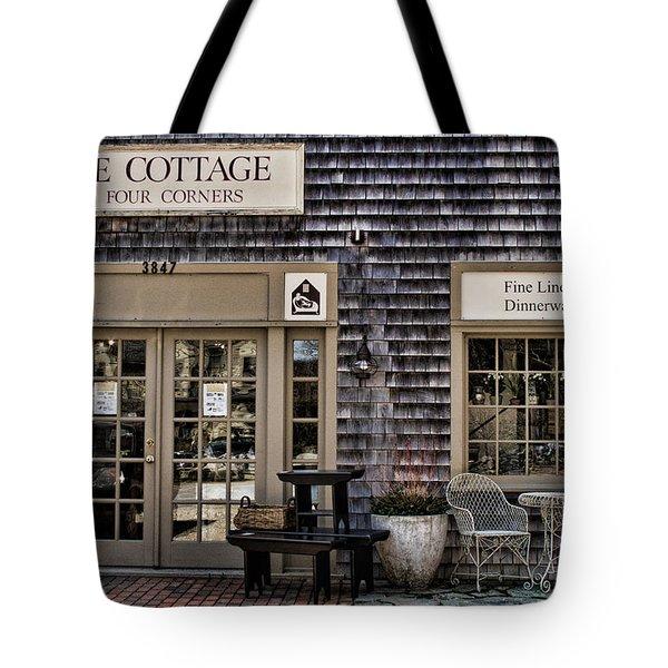 Fine Shopping In Tiverton Tote Bag by Nancy De Flon