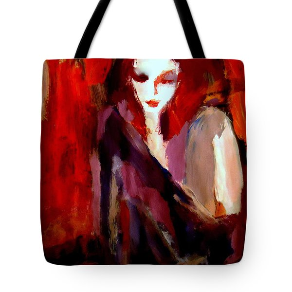 Tote Bag featuring the painting Finesse by Helena Wierzbicki