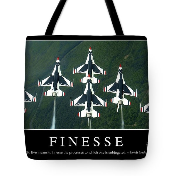 Finesse Inspirational Quote Tote Bag by Stocktrek Images