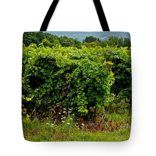 Finger Lakes Vineyard Tote Bag by Frozen in Time Fine Art Photography