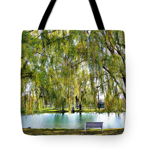 Finger Lakes Weeping Willows Tote Bag