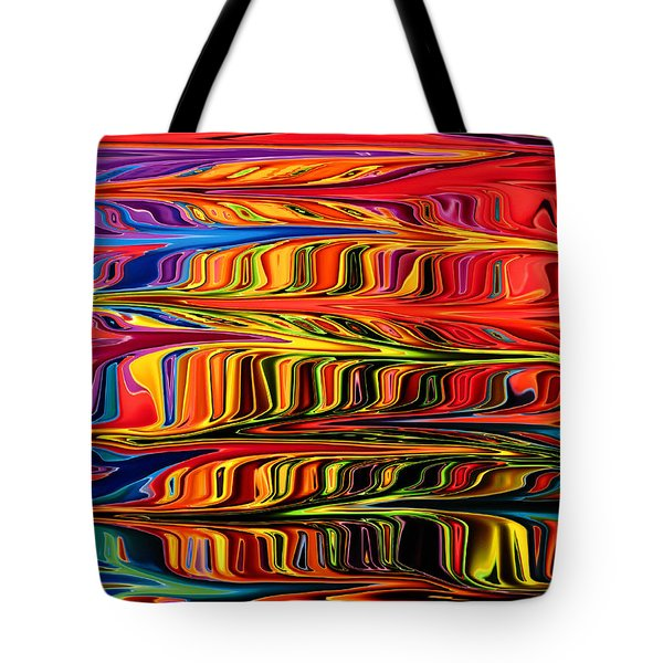 Tote Bag featuring the digital art Fingerpaint by Mary Bedy