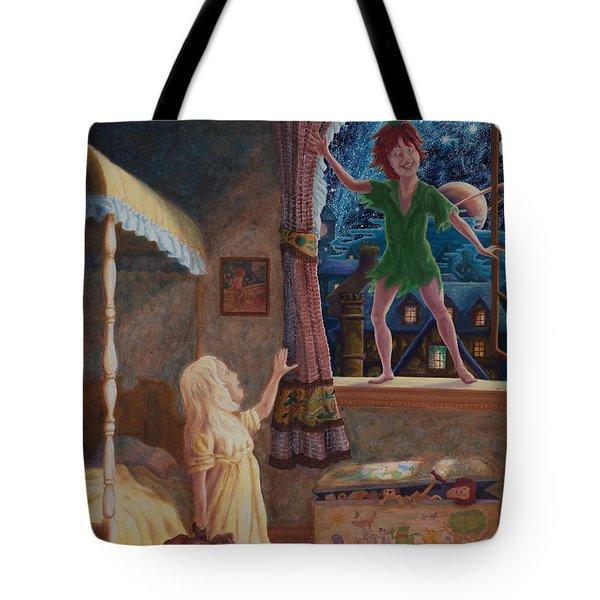 Finn Meets Peter Tote Bag by Matt Konar