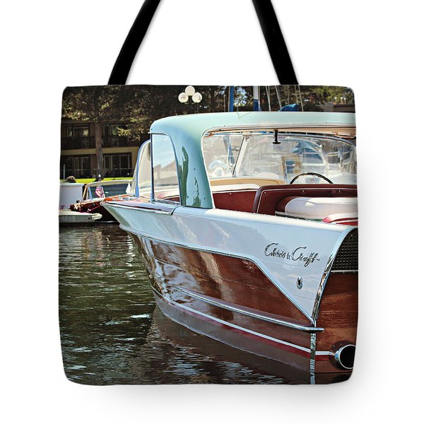 Finned Chris Craft Tote Bag