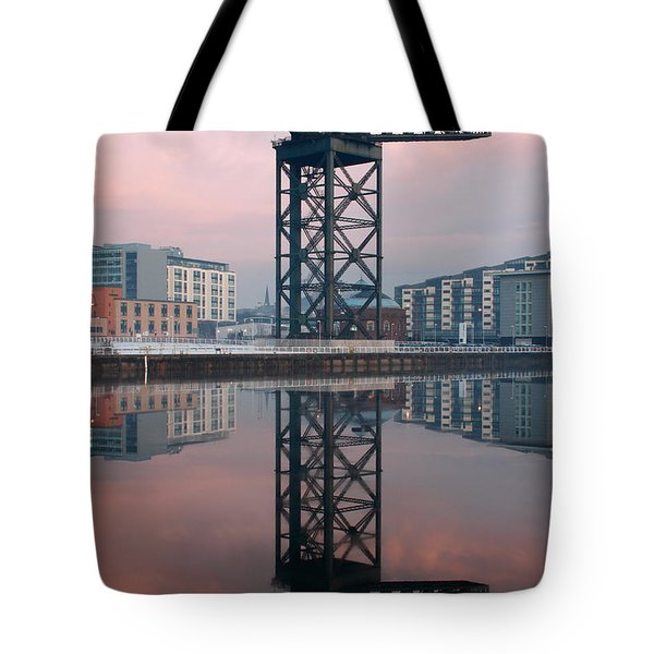 Finnieston Crane Reflections Tote Bag