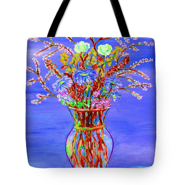 Tote Bag featuring the painting Fiori by Loredana Messina
