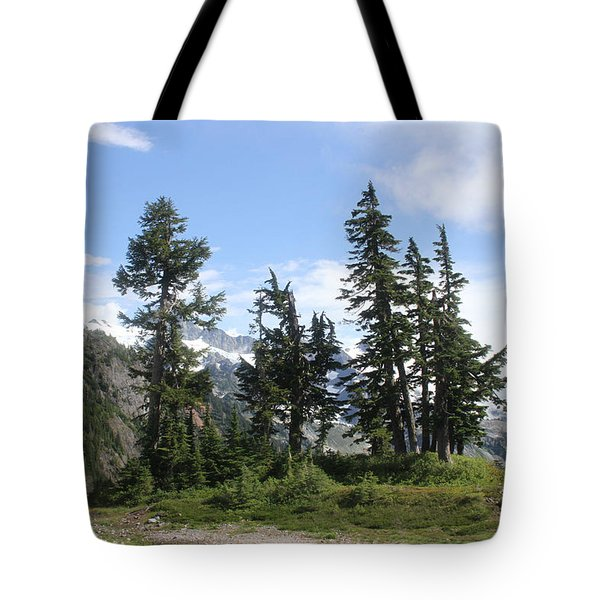 Tote Bag featuring the photograph Fir Trees At Mount Baker by Tom Janca