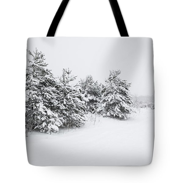 Fir Trees Covered By Snow Tote Bag