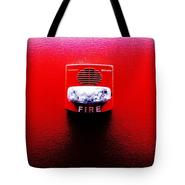 Fire Alarm Strobe Tote Bag