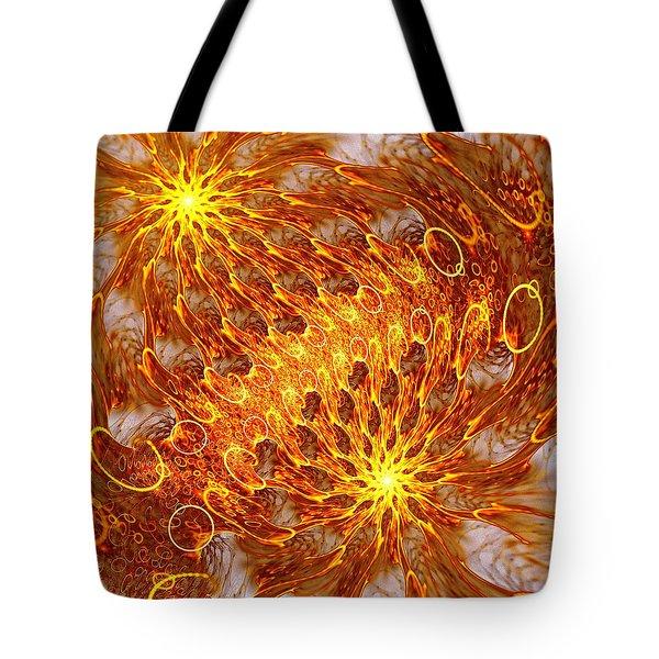 Fire And Flames Tote Bag by Anastasiya Malakhova