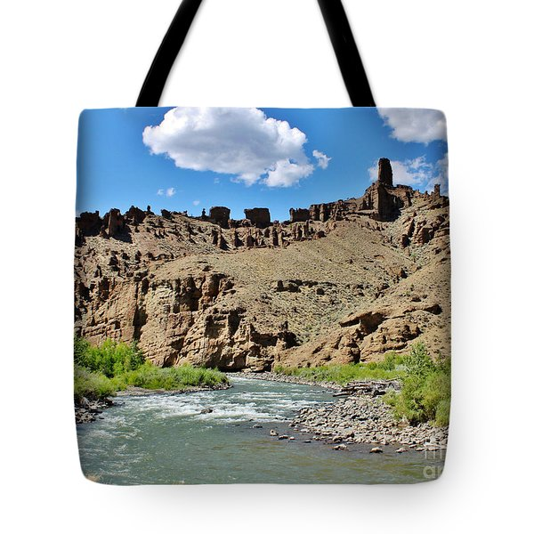 Fire And Ice Cathedral Holy City Tote Bag by Janice Rae Pariza