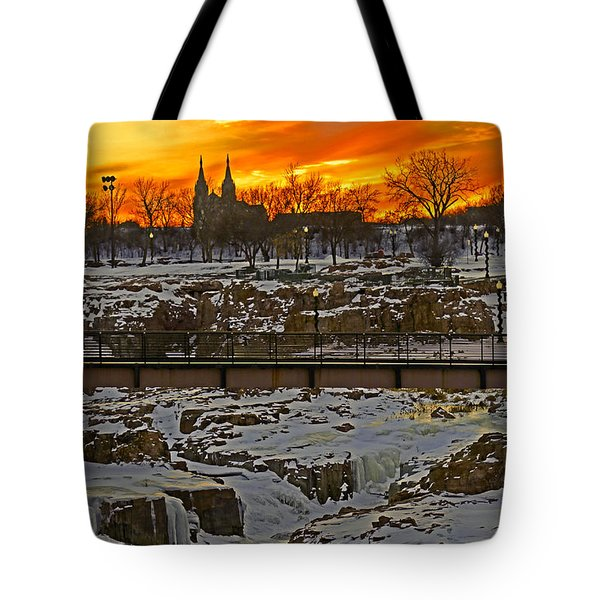 Fire And Ice Tote Bag by Elizabeth Winter