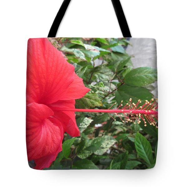 Fire And Ice Hibiscus Tote Bag