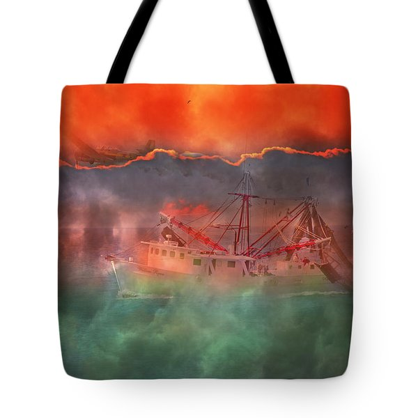 Fire And Ice Misty Morning Tote Bag by Betsy Knapp
