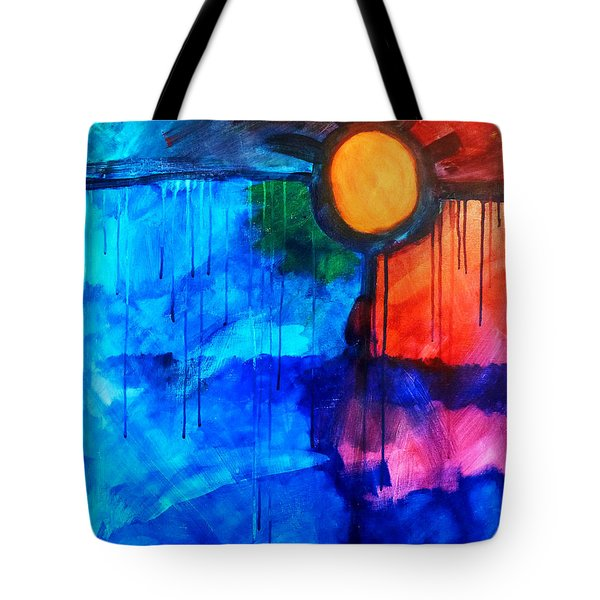 Fire And Ice Tote Bag by Nancy Merkle