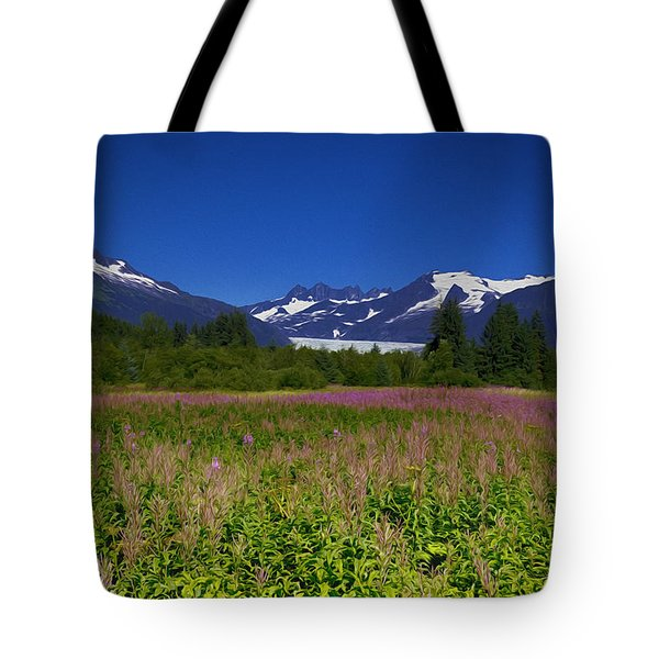 Fire And Ice Of Mendenhall Glacier Tote Bag