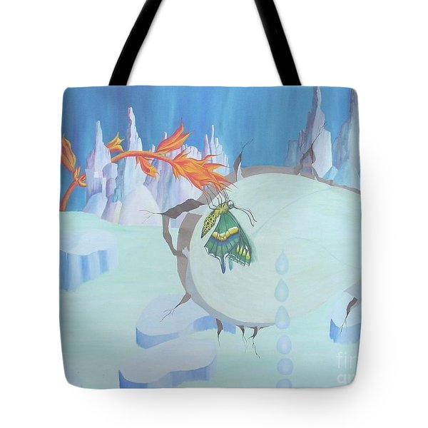 Fire And Ice Tote Bag by Richard Dotson