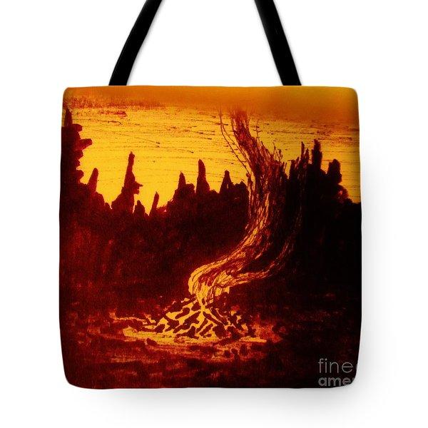 Fire And Smoke Tote Bag