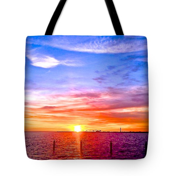 Tote Bag featuring the photograph Fire And Water by Dee Dee  Whittle