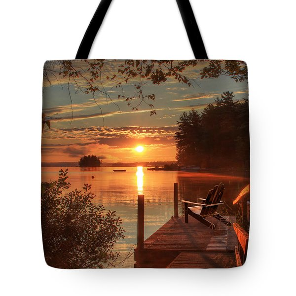 Fire And Water Tote Bag by Lori Deiter