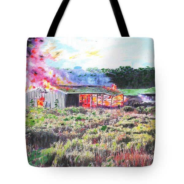 Fire At Whitney Beef Tote Bag
