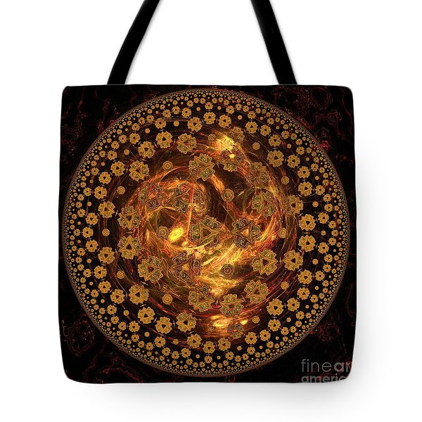 Fire Ball Filigree  Tote Bag by Elizabeth McTaggart