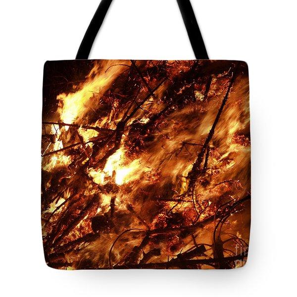Fire Blaze Tote Bag