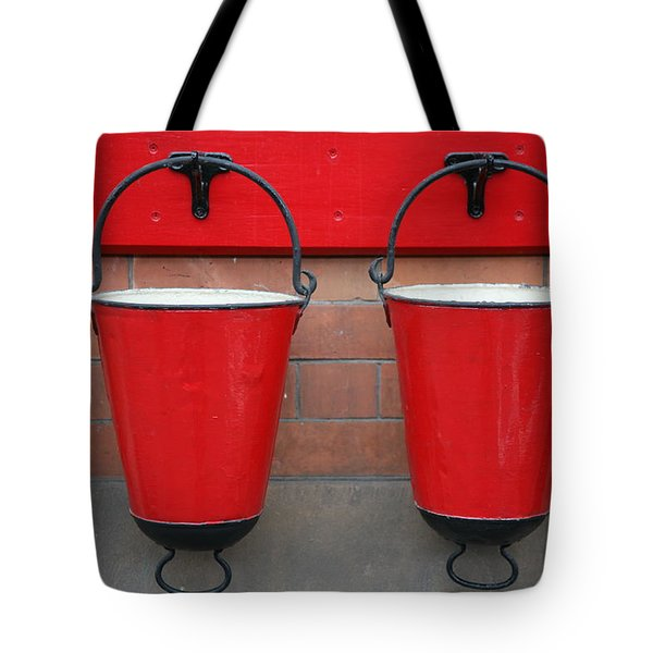 Fire Buckets Tote Bag by Mark Severn