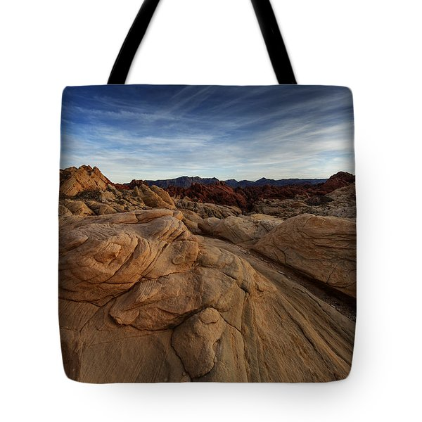 Fire Canyon, Valley Of Fire Tote Bag