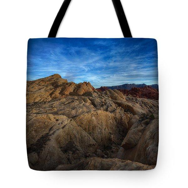 Fire Canyon Twilight Tote Bag