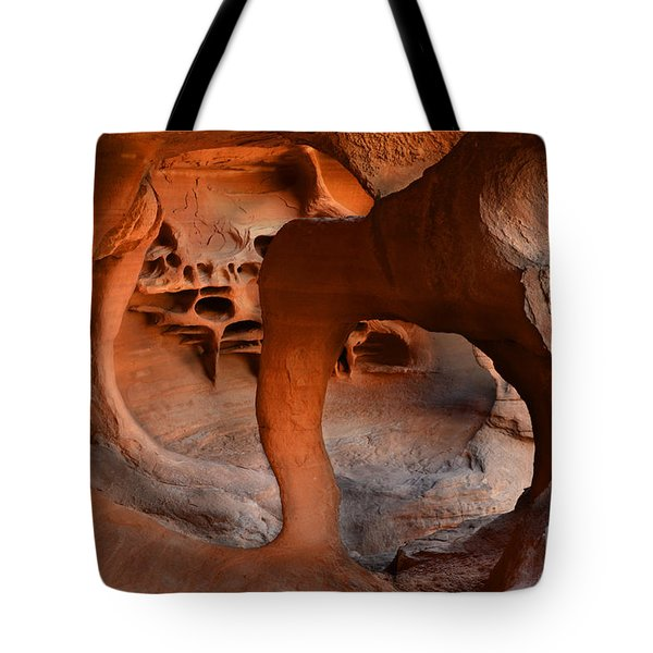 Fire Cave Windstone Arch Nevada Tote Bag