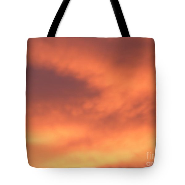 Fire Clouds Tote Bag